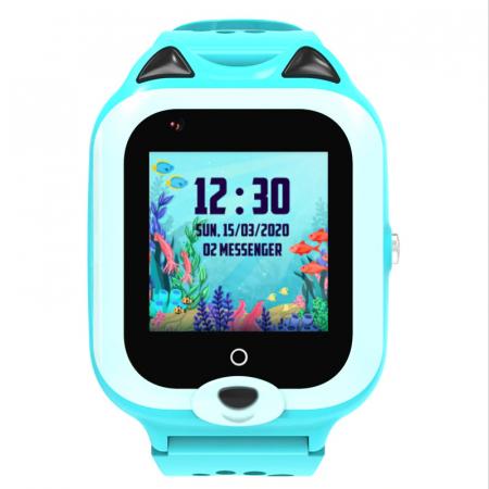 Ceas Inteligent cu GPS pentru copii WONLEX KT22 4G Albastru, apelare video, rezistent la apa, localizare WiFI si monitorizare spion [1]