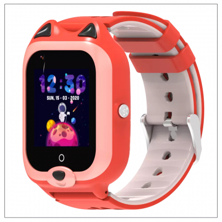 Ceas Inteligent cu GPS pentru copii WONLEX KT22 4G Portocaliu, apelare video, rezistent la apa, localizare WiFI si monitorizare spion [2]