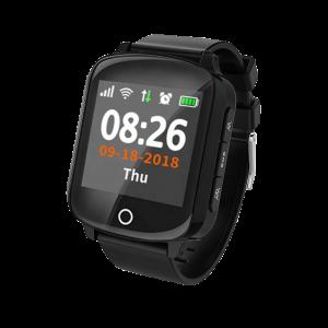 Ceas inteligent pentru seniori WONLEX EW200S Negru cu telefon, localizare GPS&WiFi, monitorizare spion si monitorizare ritm cardiac1