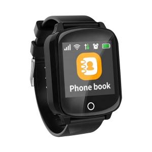 Ceas inteligent pentru seniori WONLEX EW200S Negru cu telefon, localizare GPS&WiFi, monitorizare spion si monitorizare ritm cardiac0