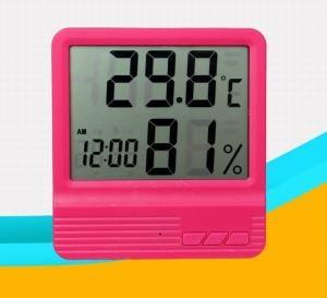 Termometru camera copii  cu ceas, alarma, si higrometru ROZ2