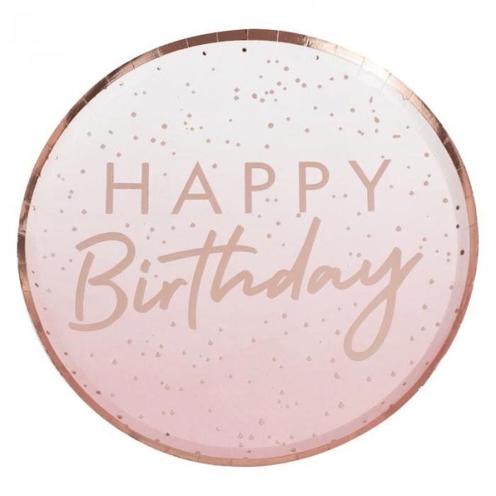 Farfurii Rose Gold Happy Birthday [0]