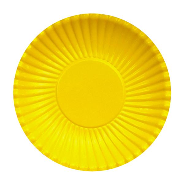 Set farfurii galbene din carton, 23 cm [0]