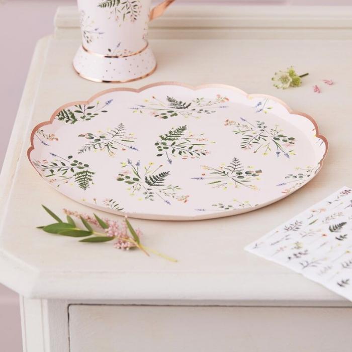 set farfurii floral tea party [0]