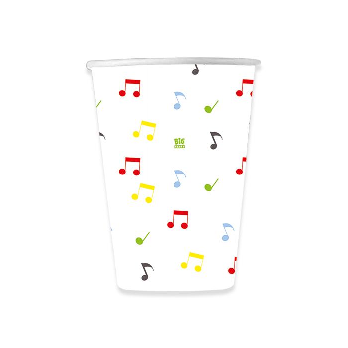 set pahare carton cu note muzicale [0]