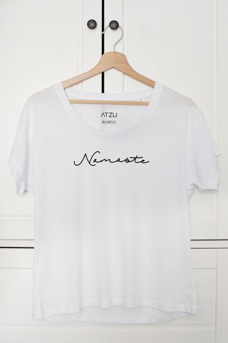 Tricou dama alb din bumbac organic Namaste [0]