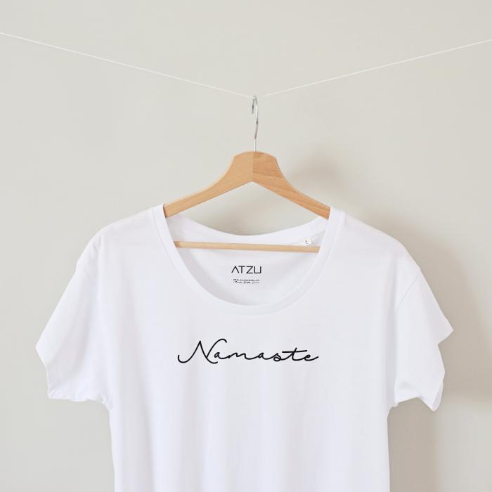 Tricou dama alb din bumbac organic Namaste [1]
