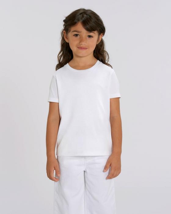 Tricou alb copil din bumbac organic inima roz [1]