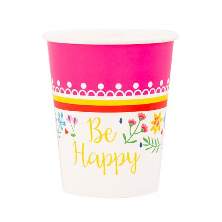 Pahare carton petrecere Be happy [0]