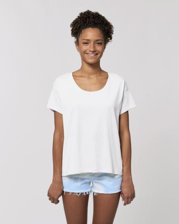 Tricou dama alb din bumbac organic Neata [1]