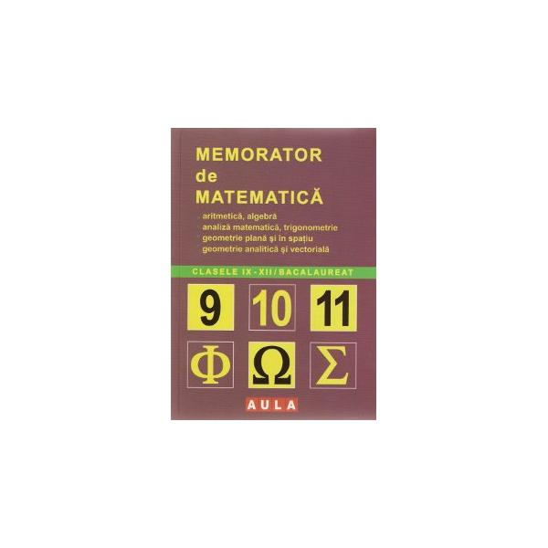 Memorator de Matematica.Liceu 0