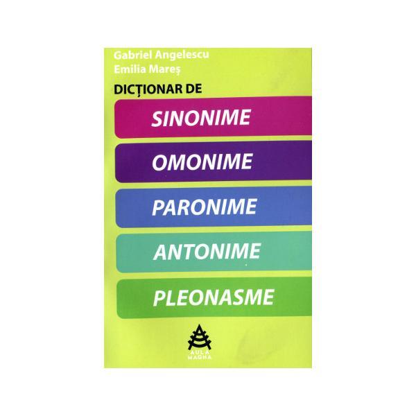 Dicționar de sinonime, omonime, paronime, antonime, pleonasme 0
