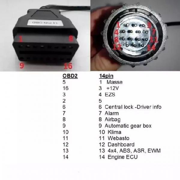 Adaptor Mercedes Sprinter si Vw LT - 14 pini 2