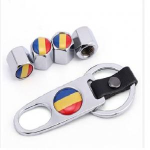 Set 4 capacele ventil roti Romania breloc0