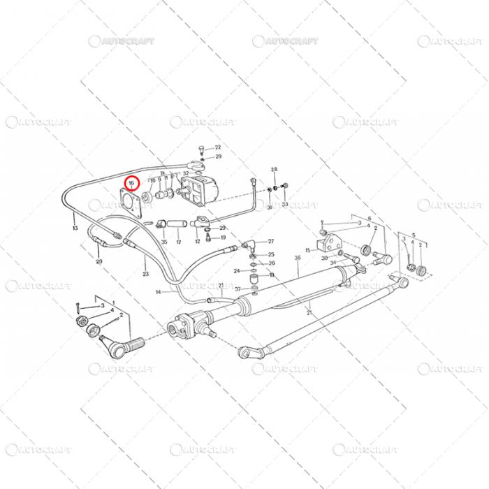GARNITURA POMPA HIDRAULICA FERMIT UTB TRACTOR U445 115.01.209 [1]