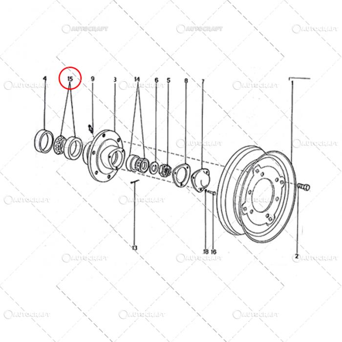 RULMENT 32309 BUTUC ROATA INTERIOR TRACTOR U650 [0]