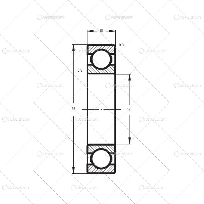 6003 2Z FLT RULMENT (17X35X10) [1]