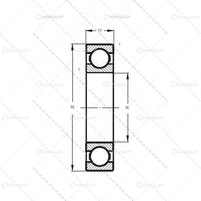 6006 2Z FLT RULEMNT (30X55X13) 1