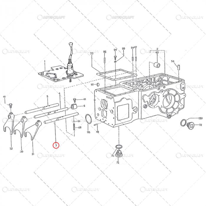 AX FURCA VITEZE 3 SI 4 UTB TRACTOR U650 38.17.111 0