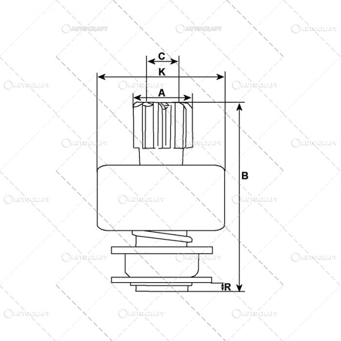 BENDIX ELECTROMOTOR FIAT 134643 [1]