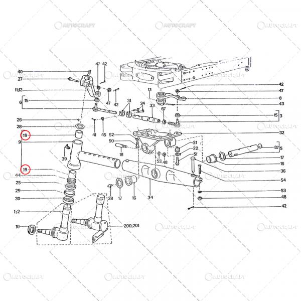 BUCSA FUZETA PLASTIC UTB TRACTOR U650 31.30.158 1