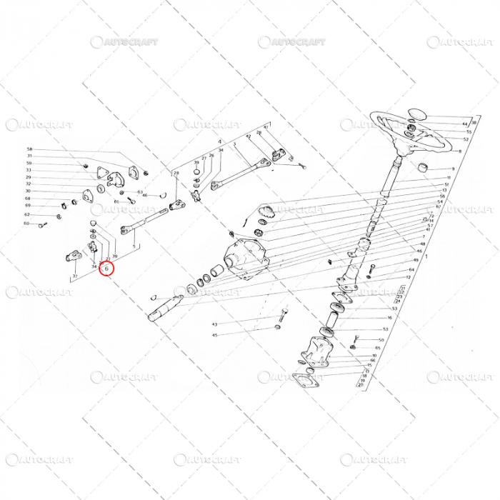 CARDAN DIRECTIE LUNG UTB TRACTOR U650 38.34.016 0