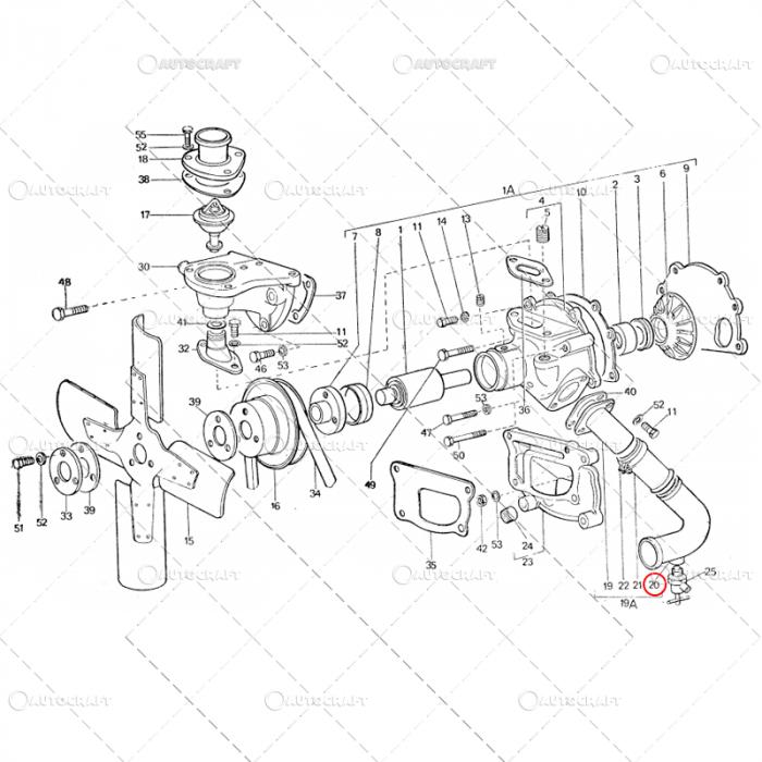COT POMPA APA INFERIOR TRACTOR U445 115.11.032 [0]