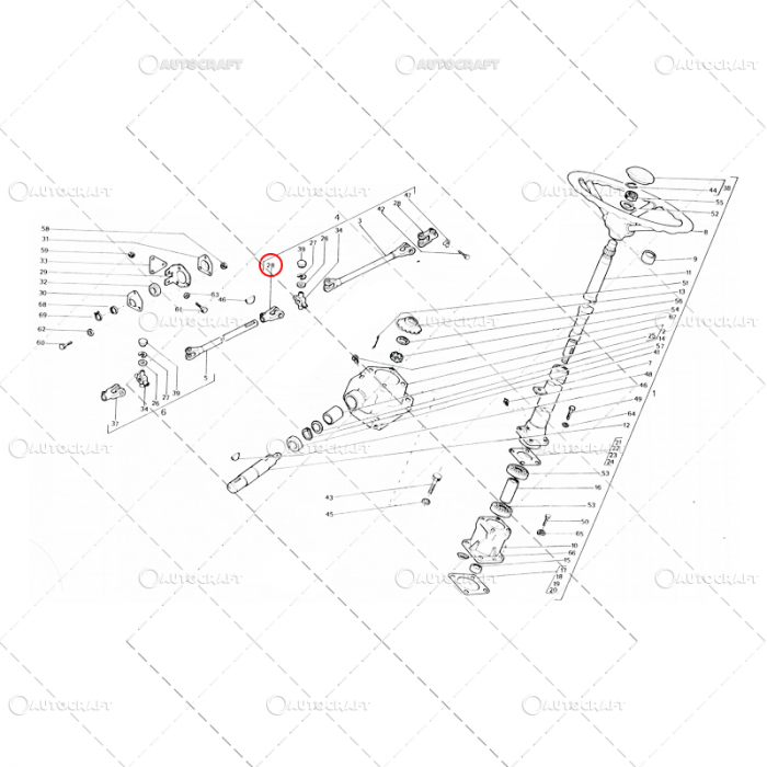 FURCA AX CARDAN DIRECTIE PANA UTB TRACTOR U650 31.34.119 0