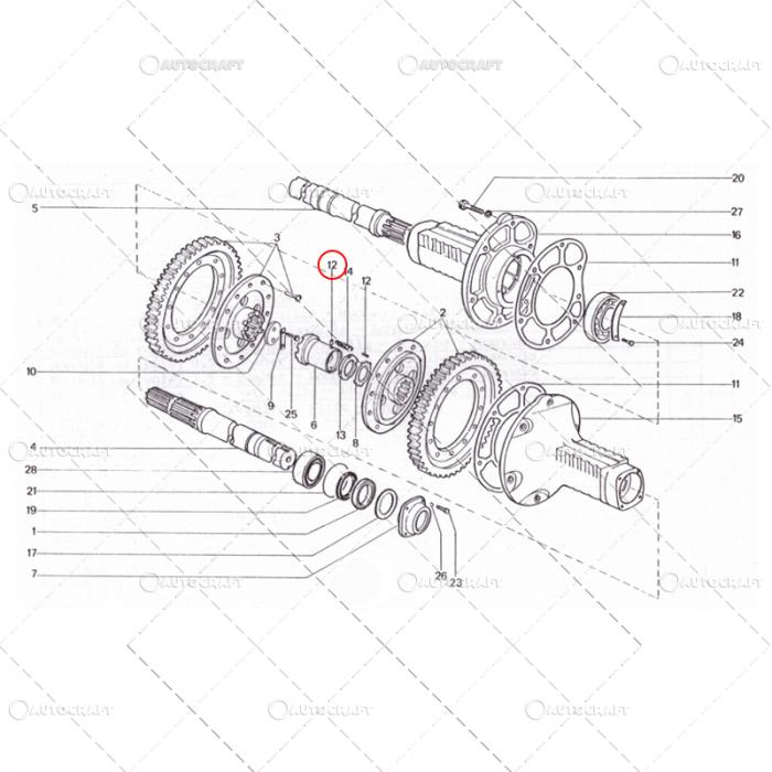 MANSON CUPLARE ROATA MOTRICA UTB TRACTOR U650 [0]