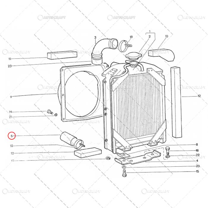 MANSON RADIATOR SCURT TRACTOR U445 40.13.155 [2]