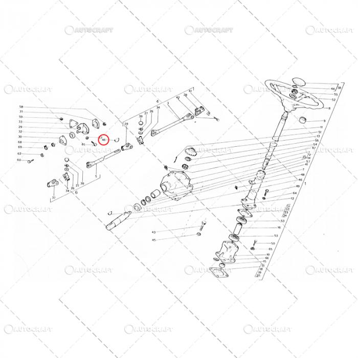 PANA CARDAN DIRECTIE 5X7.5 UTB TRACTOR U650 0