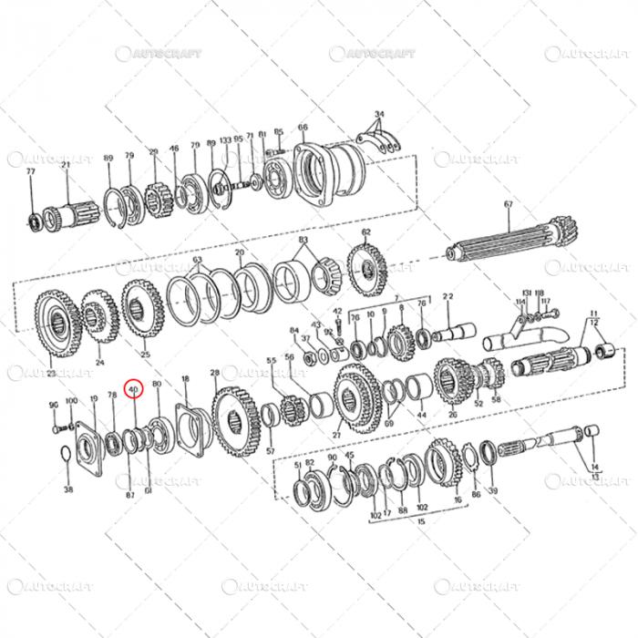 PIULITA ARBORE INTERMEDIAR M50 UTB TRACTOR U650 31.17.147 [1]