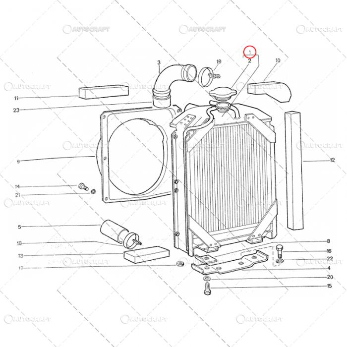 RADIATOR RACIRE APA UTB TRACTOR 450x460x53 U445 [2]
