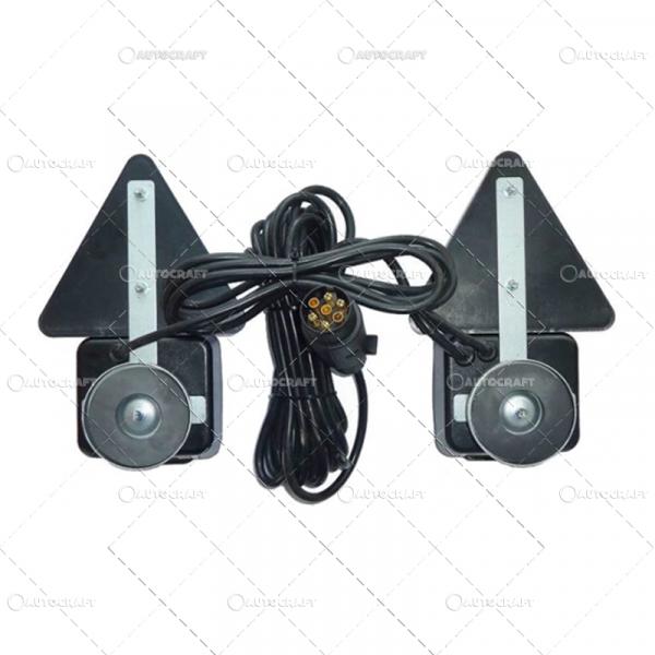 SET LAMPI SPATE COMBINATE CU TRIUNGHI PRINDERE MAGNET, CU CABLU DE 7.5 m 1