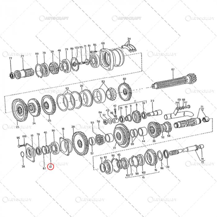 SIGURANTA AX INTERMEDIAR REDUCTOR FI50 U650 31.17.225 1