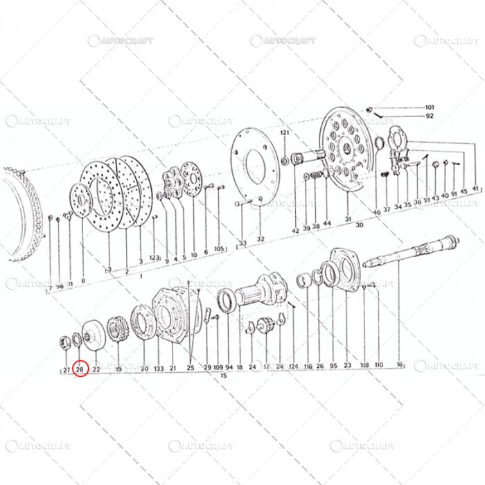 SIGURANTA ARBORE AMBREIAJ REDUCTOR M55 UTB TRACTOR U650 38.16.160 [1]