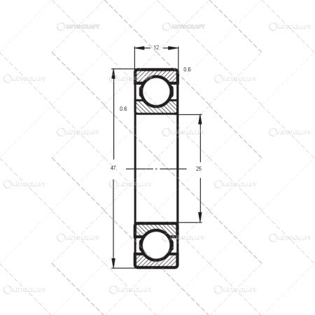 6005 2Z FLT RULEMNT (25X47X12) [1]