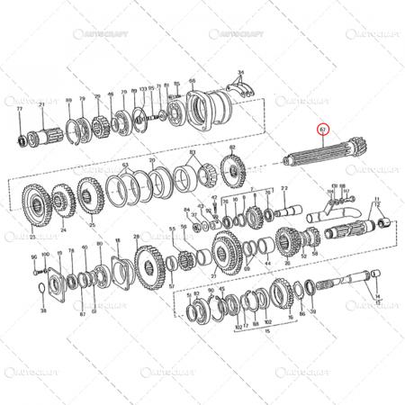 PINION DE ATAC Z=13 AX SECUNDAR GRUP CONIC SPATE UTB TRACTOR U650 38.17.2734