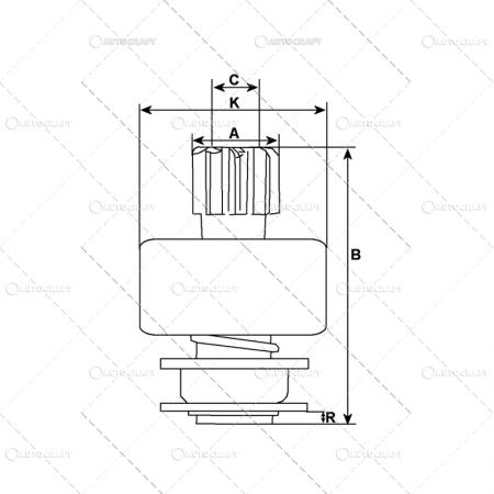 BENDIX ELECTROMOTOR FIAT HC CARGO 879898, 74899601, 130437, 1.01.0953.0, 0953 [1]