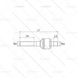 BIELETA DIRECTIE CASE IH M22 X 1.5 RH - M20 X 1.5 RH [1]