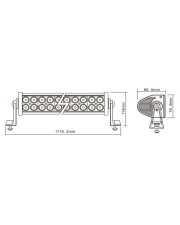 LAMPA PROIECTOR LED OFF-ROAD 1119MM 240W 80X LED [1]
