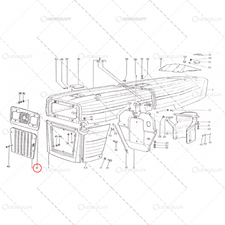 MASCA FATA SUPERIOARA FAR PATRAT TRACTOR U650 60.47.1991