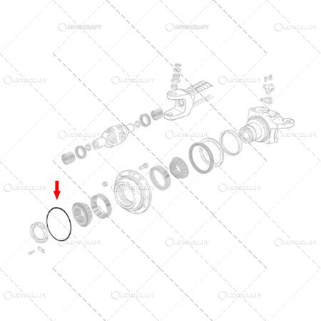 ORING ROATA FATA JOHN DEERE 83927797, L40317 [2]