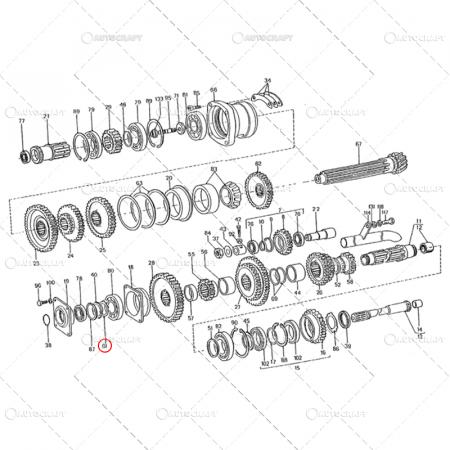SIGURANTA AX INTERMEDIAR REDUCTOR FI50 U650 31.17.2251