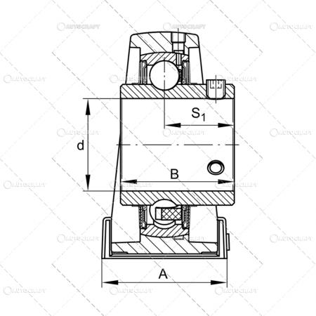 UCP 208 LAGAR CU RULMENT (40X137X42.9) LYC [1]