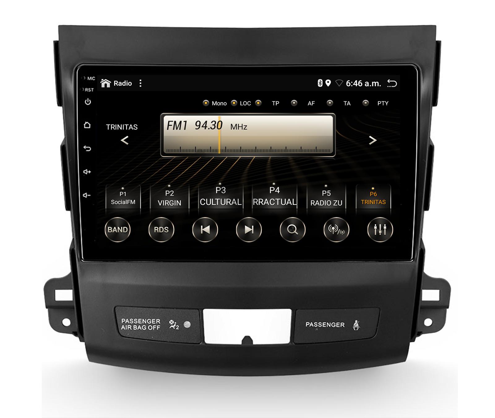 navigatie-auto-dedicata-mitsubishi-outlander-4gb-ram-px6-android10