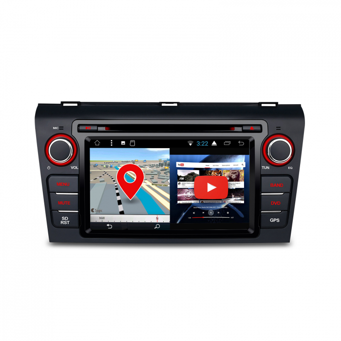 """-Out of Stock- NAVIGATIE MAZDA 3 (2004-2009), ANDROID 8.1, QUADCORE / 1GB RAM CU DVD, 7"""" 1"""