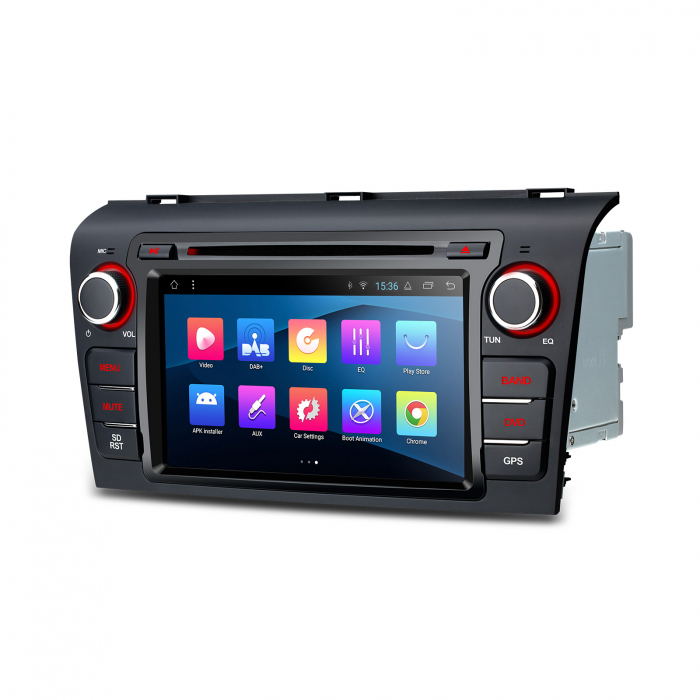 """-Out of Stock- NAVIGATIE MAZDA 3 (2004-2009), ANDROID 8.1, QUADCORE / 1GB RAM CU DVD, 7"""" 2"""