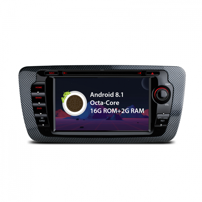 "-OUT OF STOCK- Navigatie Android 8.1 OREO Ibiza MK4, FR, Ecomotive, Cupra Concept, Bacanegra, Cupra OCTACORE / 2GB RAM cu DVD, 7"" Inch 0"