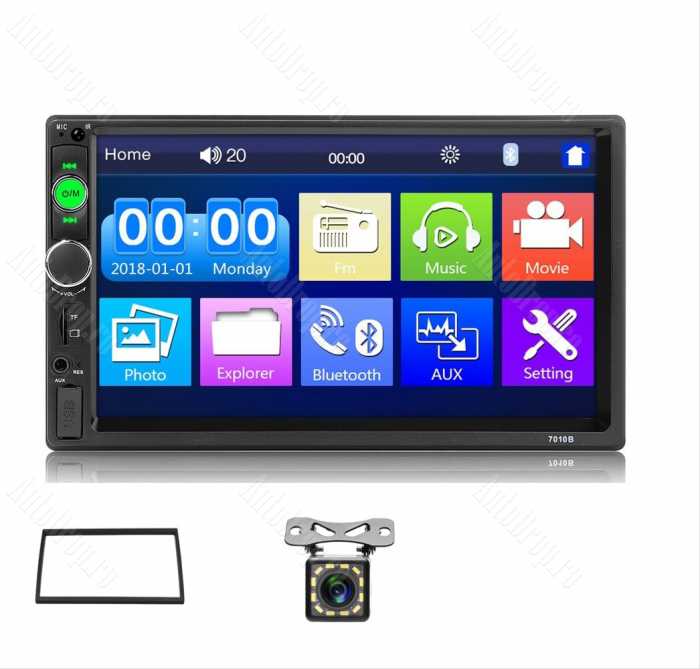 MP5 DVD Player Auto | Bluetooth, USB, Camera Marsarier 0